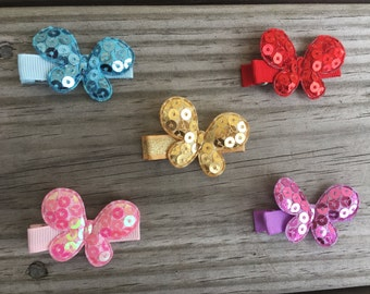 Butterfly Hair Clip / Hair Clips Set of 5