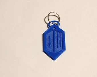 Doctor Who inspired Keyring based on the 11th Doctors logo. Available in a range of colours.