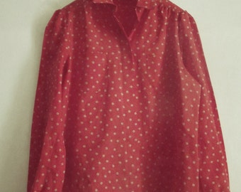 Vintage Firey Red Blouse