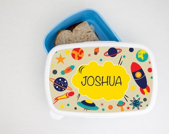 Personalised Spectacular Spaceship Kids Lunch Box-Perfect Gift-Food Storage Box!