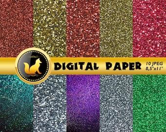 Rainbow Glitter Background,Glitter Sparkle Paper,Glitter Scrapbook Paper,Glitter Backdrop,digital paper,Glitter Background,scrapbook Sparkle