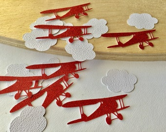 Vintage Airplane Party Confetti