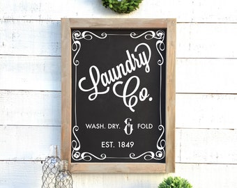 Vintage Laundry Chalkboard, shabby chic home decor