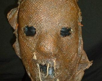 Burlap and Latex Scarecrow Half Mask