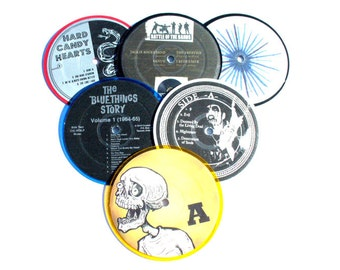 Indie record coasters - set of 6