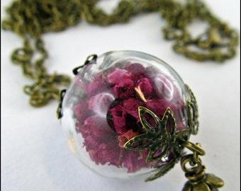Heath Flower necklace with kleinerPerle
