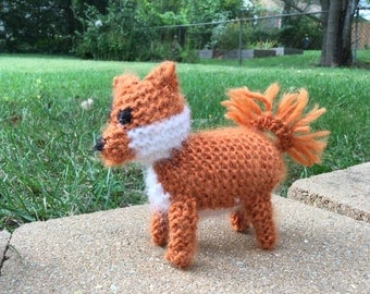 Knitted Pomeranian Puppy