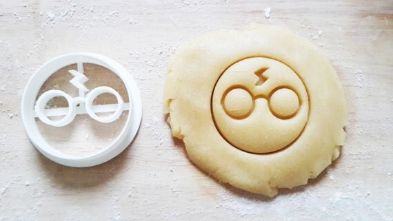 sorcier éclair a lunettes cookie cutter kawaii birthday cake emporte pièce 3d print mignon hogwarts potterhead geek