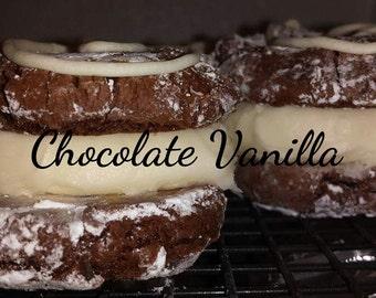 Gluten Free Chocolate Vanilla filled Cookie