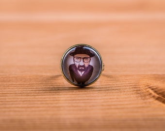 Ring Breaking Bad / Ring Walter white / jewelry / Netflix Cabochon / Heisenberg / Jesse pinkman
