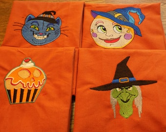 Halloween Embroidered Napkins