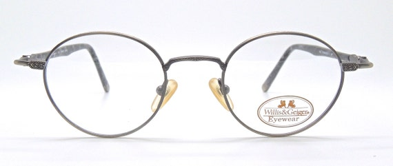Designer Vintage Frames By WILLIS & GEIGER Pinnacle Round Style Antique Pewter Colour Frames With Beautiful Detail