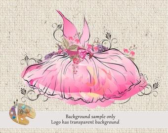 Tutu Logo Design - Princess Clothing, Princess Logo, Ballerina, Tutu Logo, Premade Logo, Boutique Logo