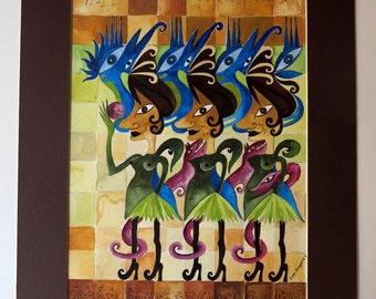 watercolor painting - watercolor - painting - women - woman - fantasy