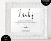 In Lieu of Favors Sign  Favors Sign  Donation Sign  lieu of favors wedding  DIY wedding  downloadable wedding signs WDH0051