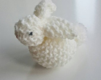 Hand knitted bunny rabbit - soft toy