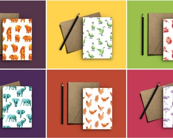 ANY EIGHT 5x7 Animal Greeting Cards/Notecards - Stationery that's perfect for any occasion!