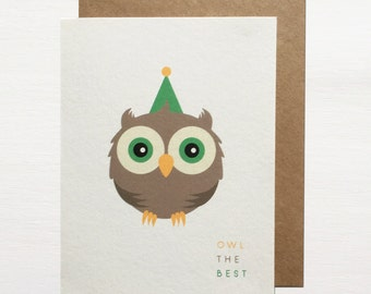 Owl The Best Greetings Card