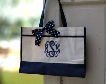 Monogrammed Tote Bag Monogrammed Tote, Bridesmaid Tote, Personalized Tote Wedding