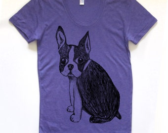boston terrier shirt, boston terrier t, cute boston terrier tshirt, boston terrier design, french bulldog, free shipping