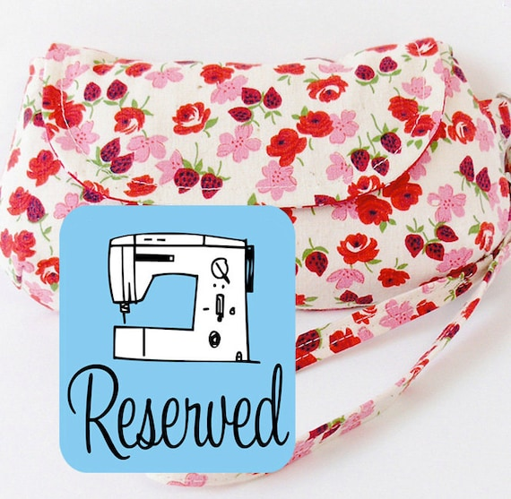 RESERVED Curvy Clutch PDF Sewing Pattern