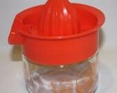 HALF OFF Gemco plastic and glass juicer. juicer with jar, vintage juicer, juicing utensil, Gemco