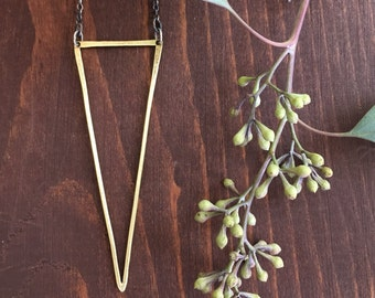 SPIKE NECKLACE | Brass with sterling silver chain