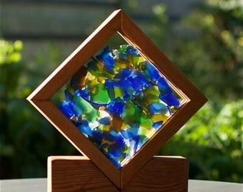 Sun Catcher Freestanding Sea Glass Kaleidoscope Suncatcher beach glass stained glass