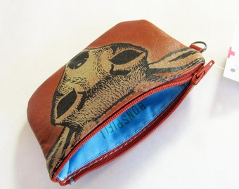 Deer zip wallet Recycled Leather