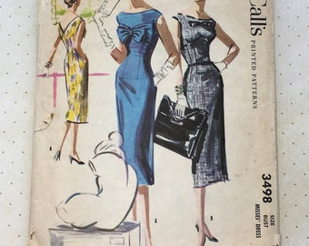 1955 McCall's Dress Pattern No. 3498