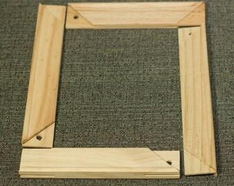 "Pine Wood Canvas Stretcher Frame Bars, 8x10"" Art Supplies, Painting, Set of Four Pieces, Destash"