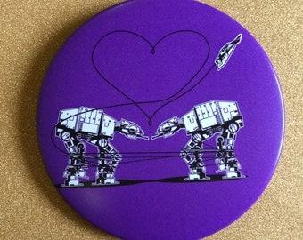 AT-AT Magnet - Purple, Star Wars Magnet, Fridge Magnet, Refrigerator Magnets, Star Wars Gift, All Terrain Armored Transport, Star Wars Party