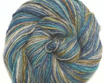 Handspun Yarn handdyed yak and superfine merino wool