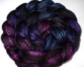 18 micron merino silk roving, spinning fiber, felting wool, handpainted merino roving, roving wool, wet felting, nuno felting wool, 3.5oz