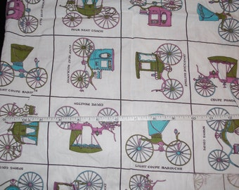 Vintage cotton carriage fabric