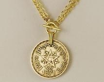 Morocco Coin Necklace 1952 Coin