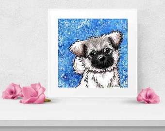 Tibetan Spaniel Art PRINT Signed Reproduction