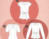 Sewaholic 1204 - ALMA BLOUSE  - Sewing Pattern - 3 VIEWS - Multi Sizes 0 to 16 - Uncut