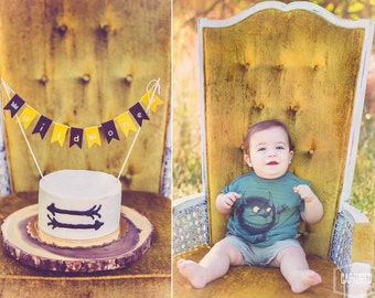 MAX Smash Cake BUNTING Where the Wild Things Are Inspired  Smash// Max