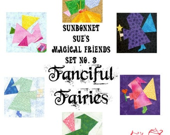 Fanciful Fairies, 6 Blocks to Paper Piece PDF