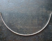 Sterling Silver Bright or Antiqued Hammered Curved Necklace Bar