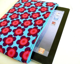 Foam Padded Tablet Case, Zipper Closure, Bright Floral fits iPad 2 or iPad Air