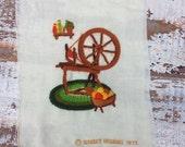 30%OFF SUPER SALE- Vintage Needlework Spinning Wheel--Retro-Cozy Home