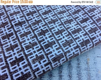40% OFF FLASH SALE- Modern Brown Fabric-Reclaimed Bed Linens-Mod Retro