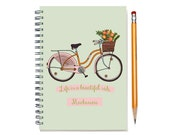 2017 2016 2 Year Weekly Planner, Personalized 24 Month Calendar Notebook, Start Any Time, Add Your Name, Beautiful Ride, SKU: 2yrW pbike
