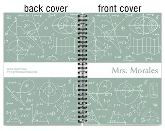 18 month custom planner, Start any month, 2017 2018 2019 personalized weekly planner,  18 month academic planner, SKU: epi math w