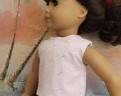 American Girl Doll Clothes Light Pink Cotton Eyelet Modified Crop Top NEW Style