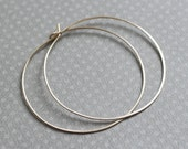 Lisse Hoops XL - matte 14K gold filled large hammered hoop earrings