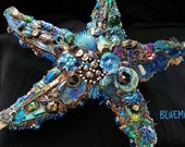 Reserved for Jean The Fantastic Bead Mosaics© Sealife Series Blue Keys Starfish