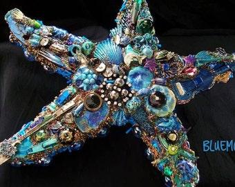 The Fantastic Bead Mosaics© Sealife Series Blue Keys Starfish
